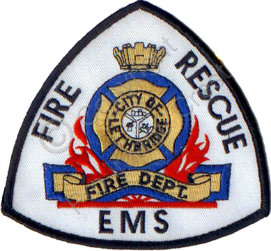 Custom fire department / EMS crests